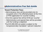 administrative fee set aside40