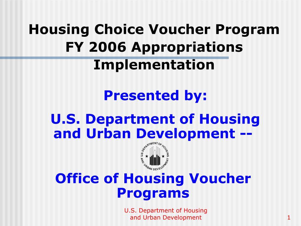 housing choice voucher program fy 2006 appropriations implementation l.