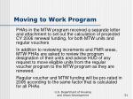 moving to work program