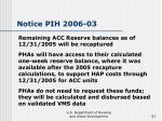 notice pih 2006 03