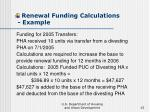 renewal funding calculations example15