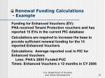 renewal funding calculations example16