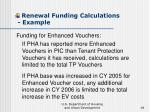 renewal funding calculations example18