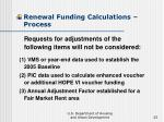 renewal funding calculations process25