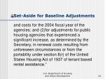 set aside for baseline adjustments42