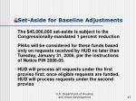 set aside for baseline adjustments43