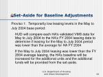 set aside for baseline adjustments44