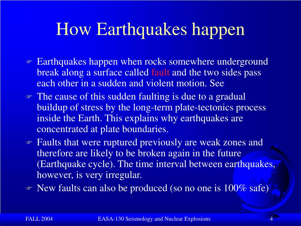 How Earthquakes happen