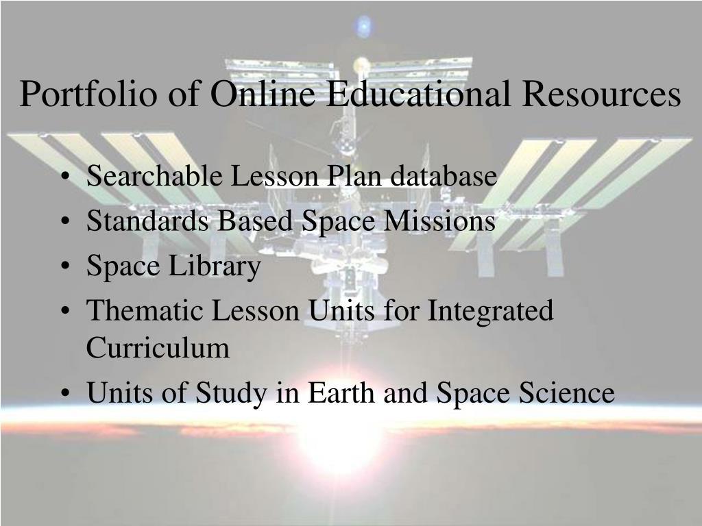 Portfolio of Online Educational Resources