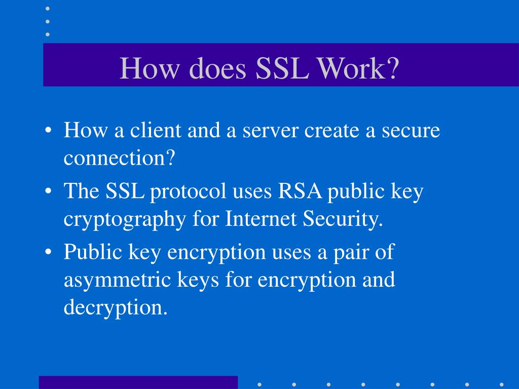 How does SSL Work?