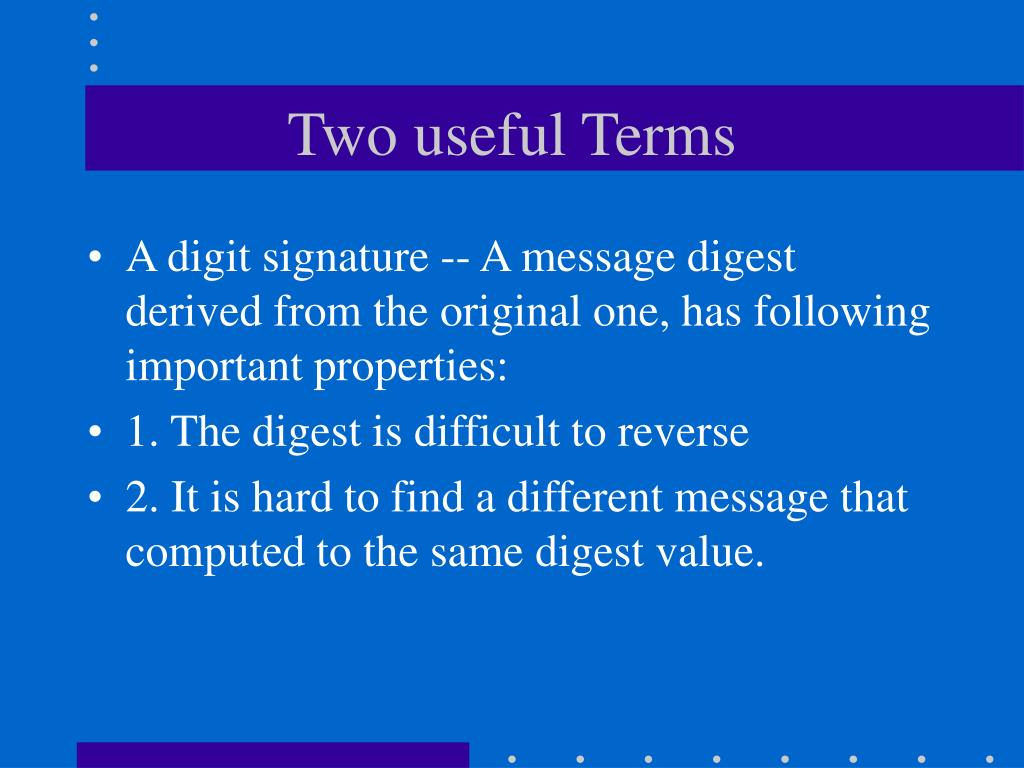 Two useful Terms