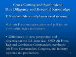 cross cutting and synthesized due diligence and essential knowledge38