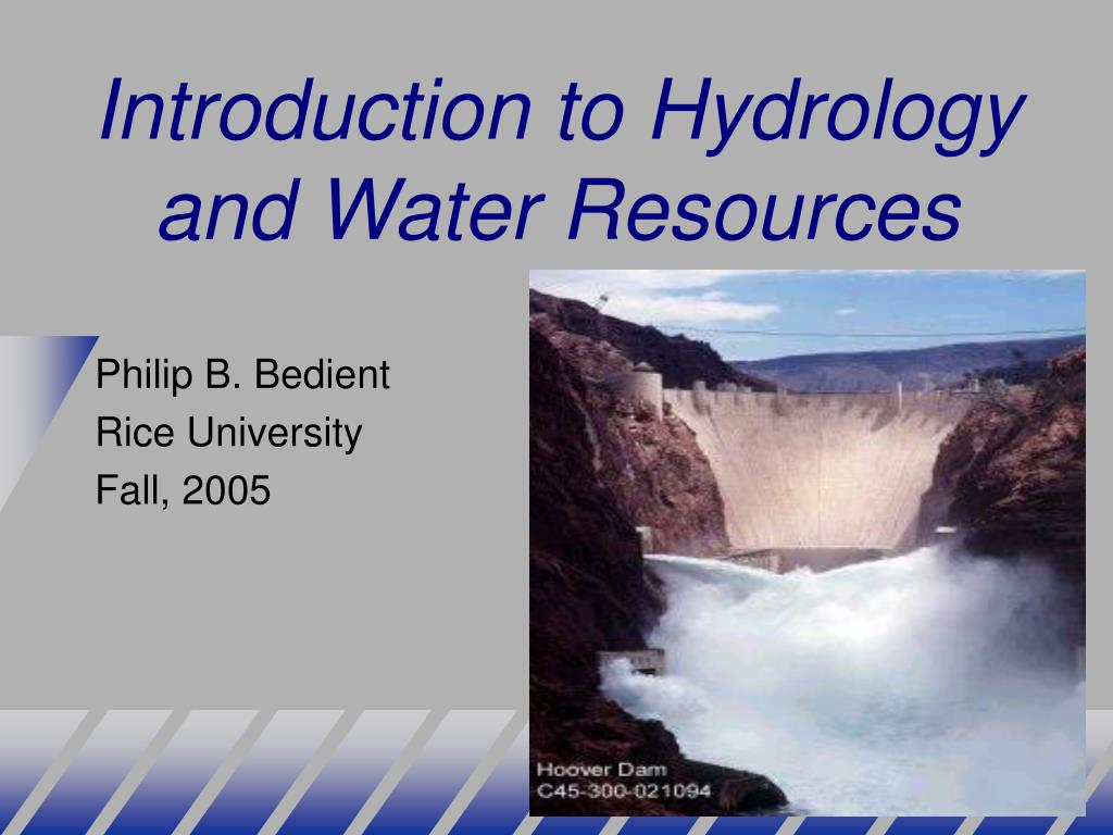 introduction to hydrology and water resources