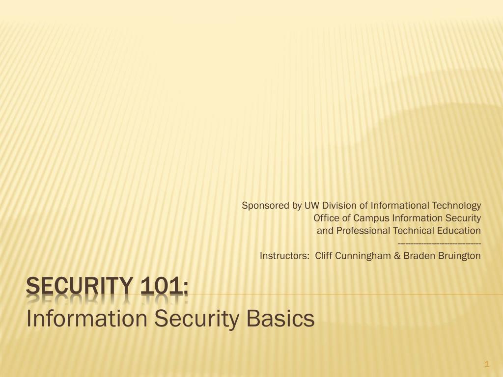 security 101 l.