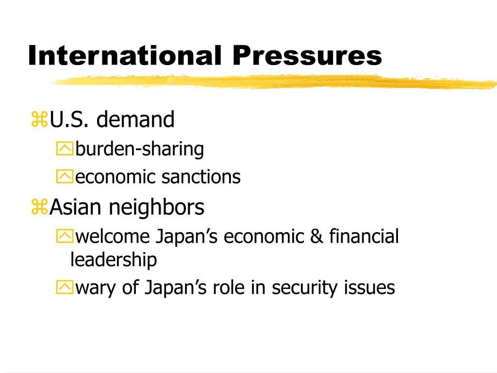 International Pressures