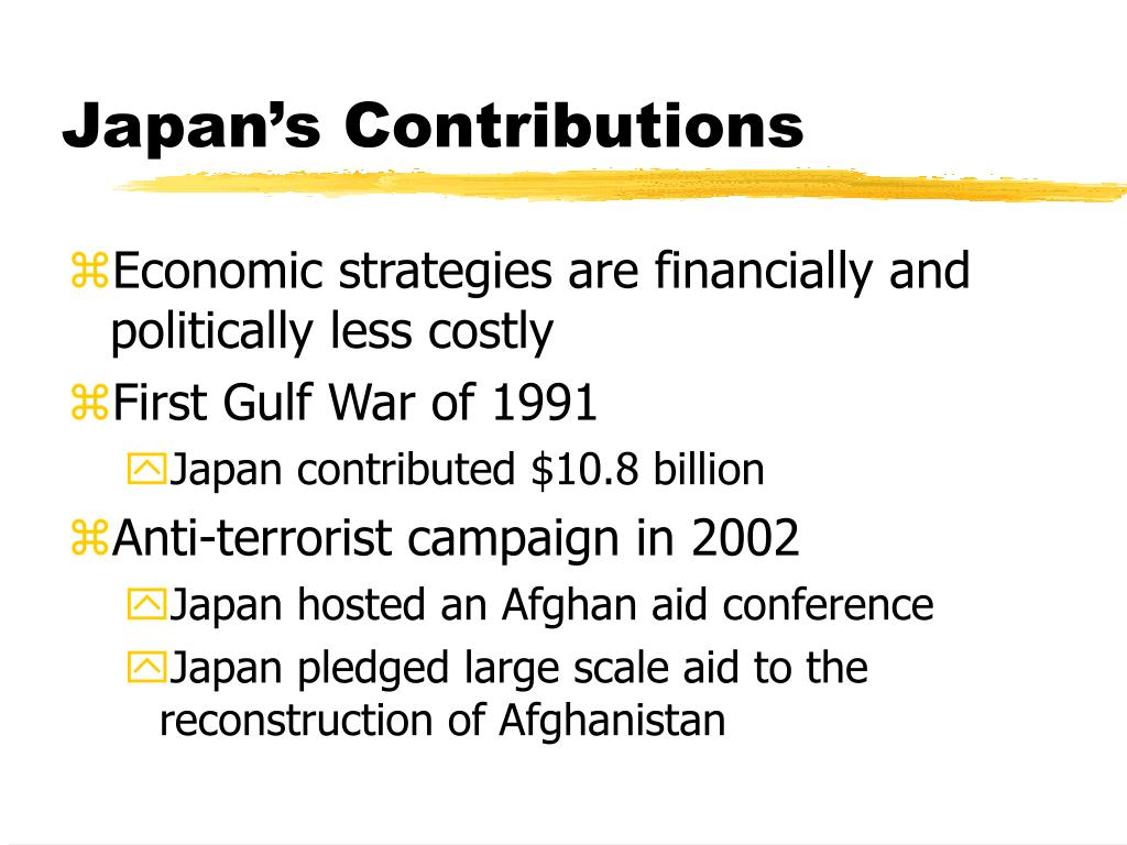 Japan's Contributions