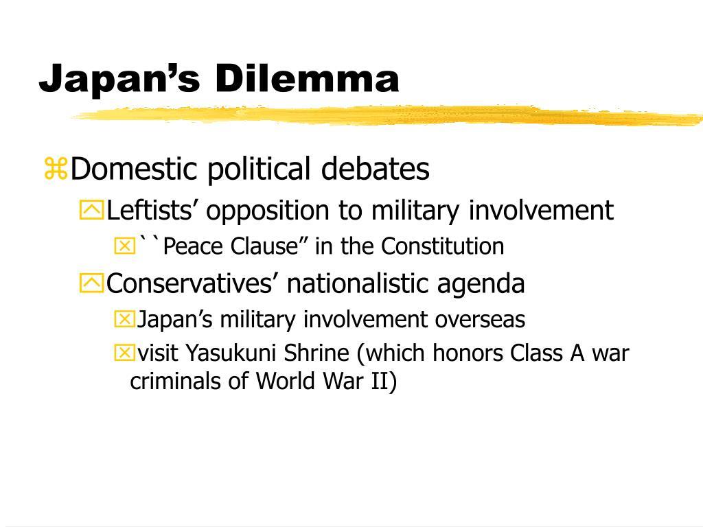 Japan's Dilemma