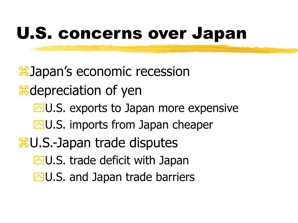 U.S. concerns over Japan