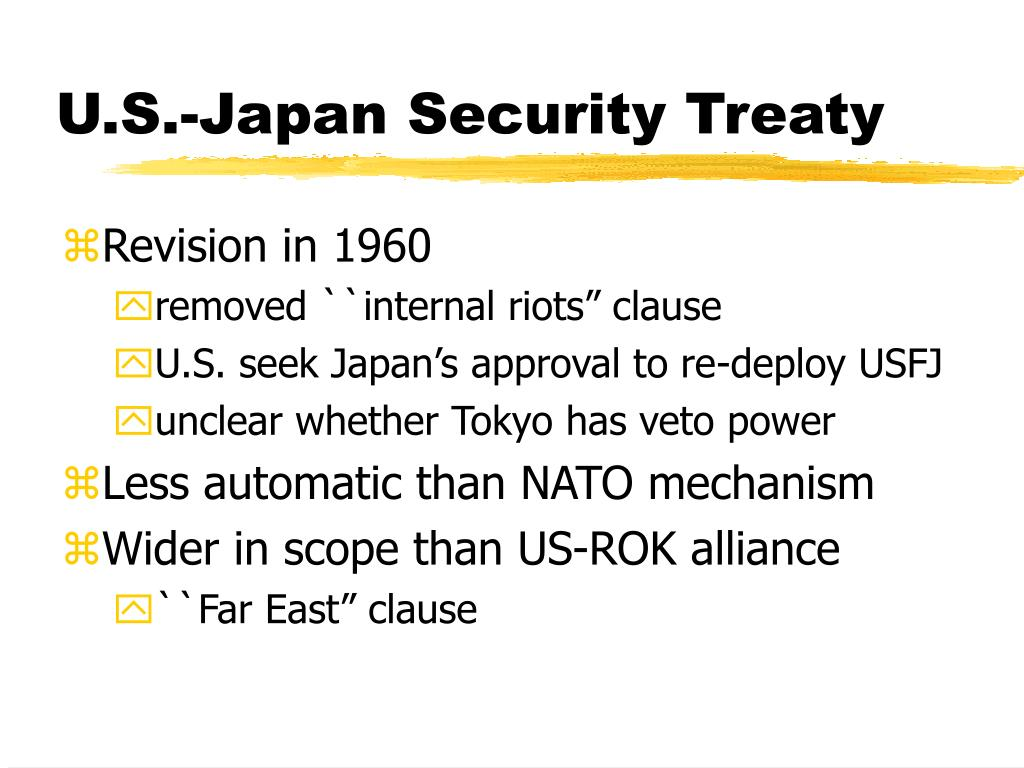 U.S.-Japan Security Treaty
