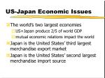 us japan economic issues
