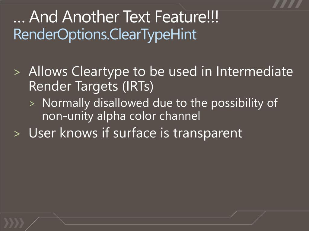 … And Another Text Feature!!!