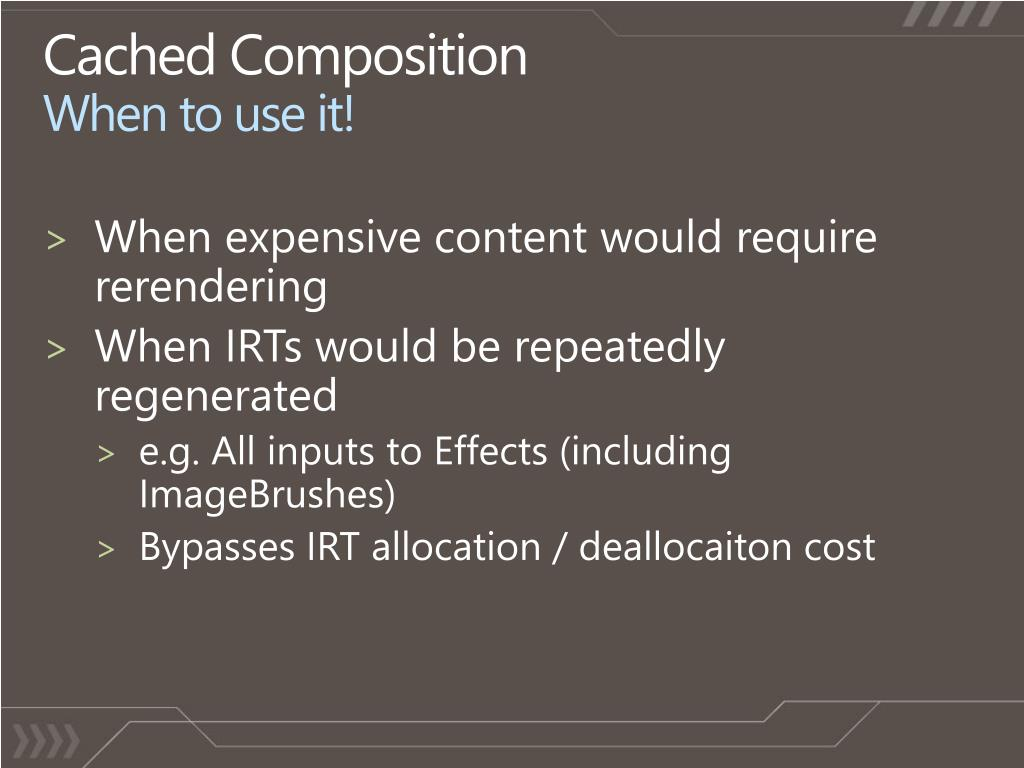 Cached Composition