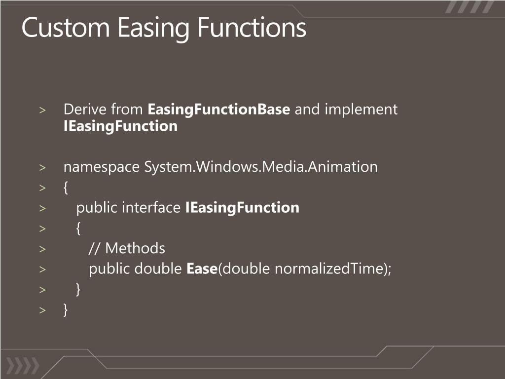 Custom Easing Functions