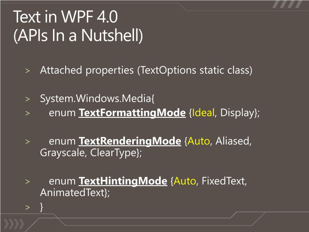 Text in WPF 4.0