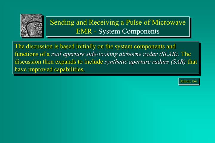 Sending and Receiving a Pulse of Microwave EMR -