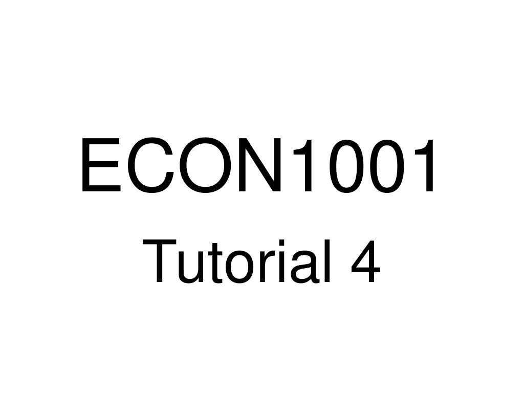 econ1001 l.