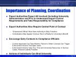 importance of planning coordination