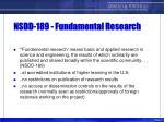 nsdd 189 fundamental research
