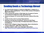 sending goods technology abroad