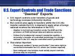 u s export controls and trade sanctions deemed exports