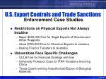 u s export controls and trade sanctions enforcement case studies