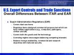 u s export controls and trade sanctions overall differences between itar and ear6
