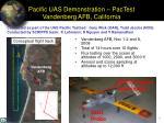 pacific uas demonstration pactest vandenberg afb california
