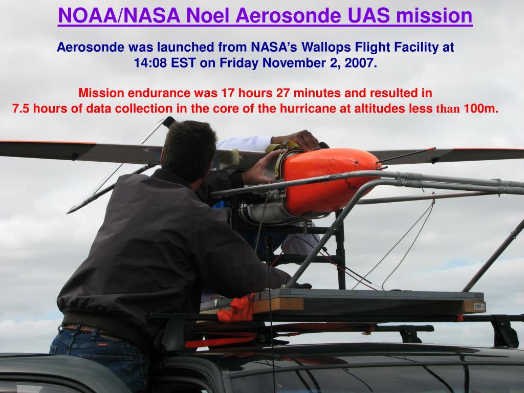 NOAA/NASA Noel Aerosonde UAS mission