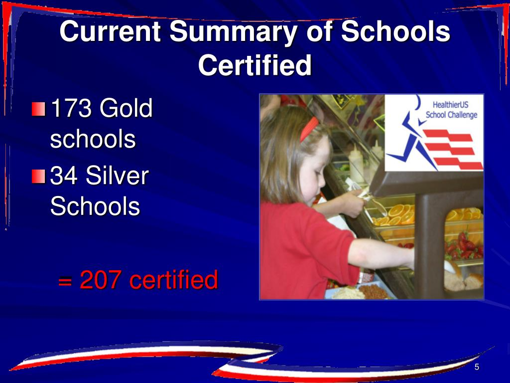 Current Summary of Schools Certified