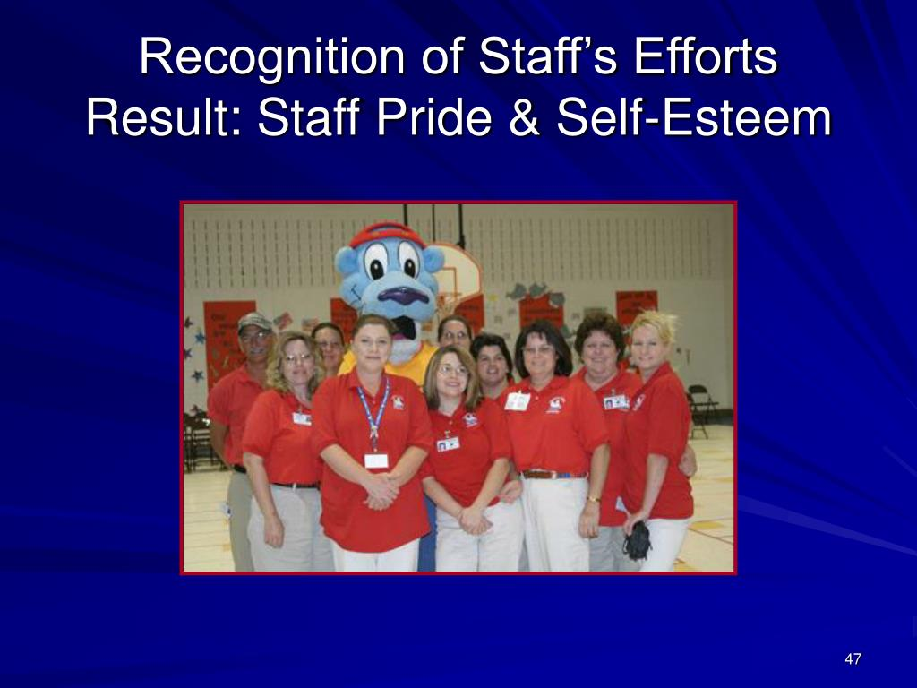 Recognition of Staff's Efforts
