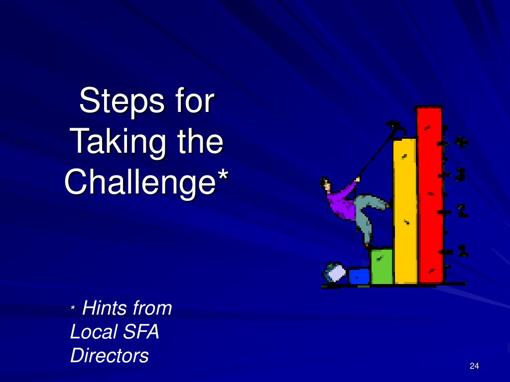 Steps for Taking the Challenge