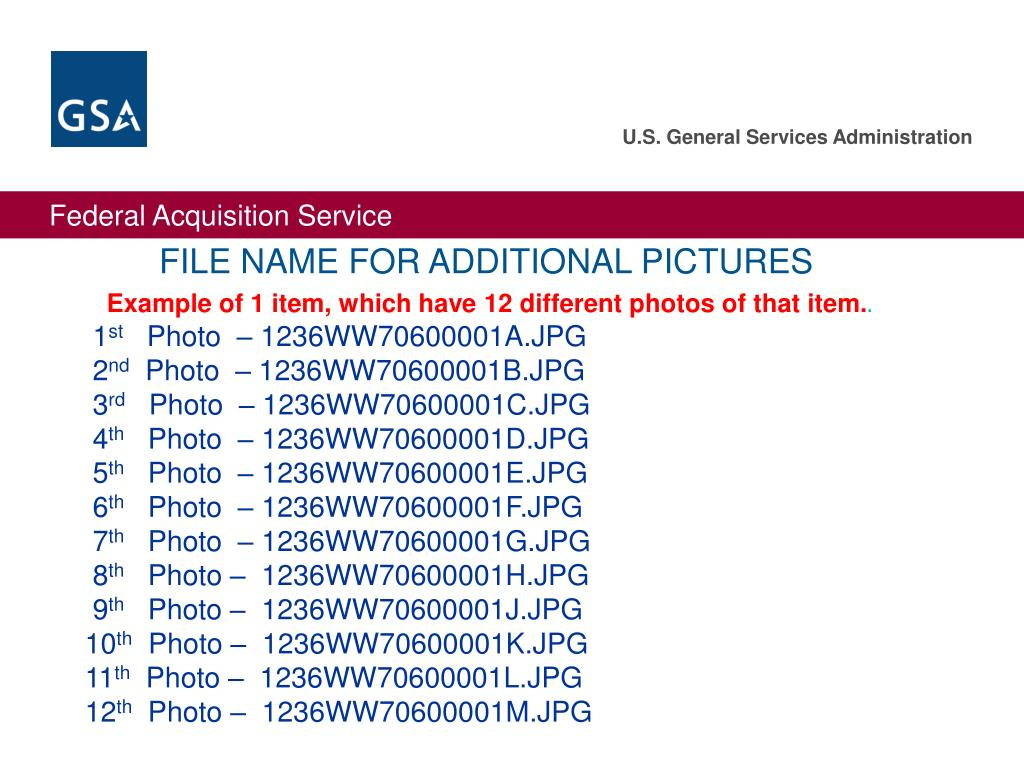 FILE NAME FOR ADDITIONAL PICTURES
