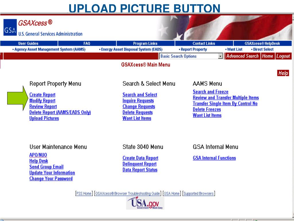 UPLOAD PICTURE BUTTON
