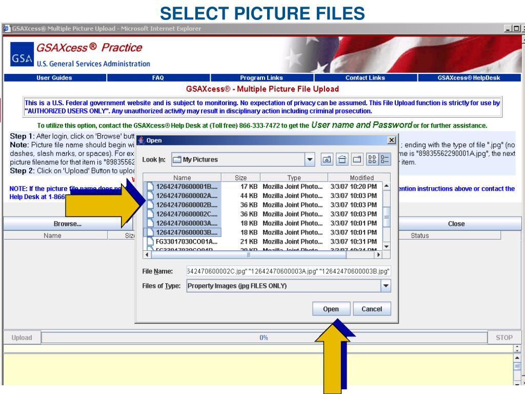 SELECT PICTURE FILES