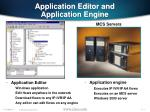 application editor and application engine