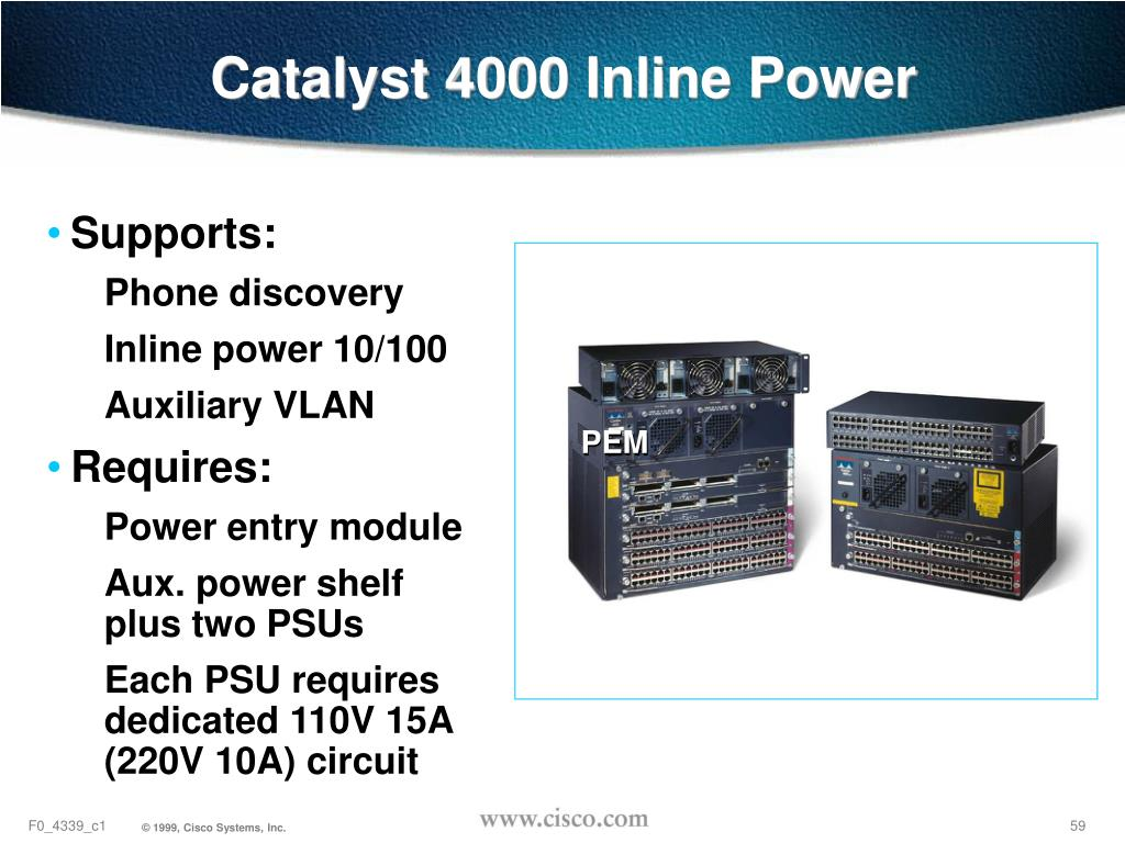 Catalyst 4000 Inline Power