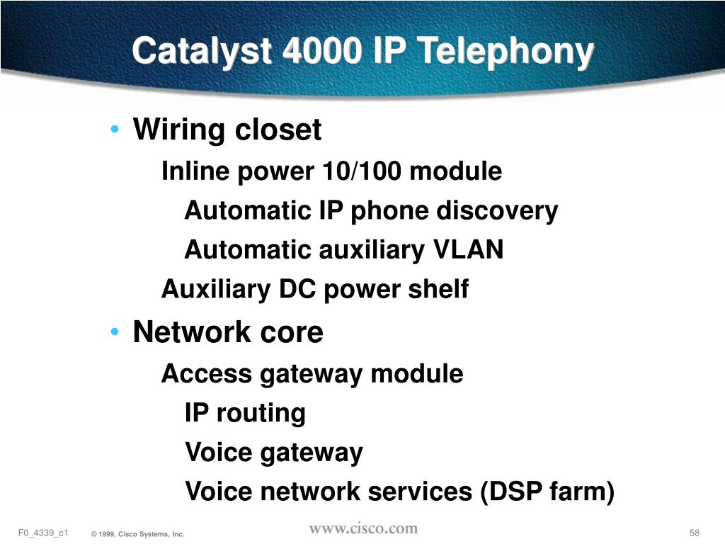 Catalyst 4000 IP Telephony