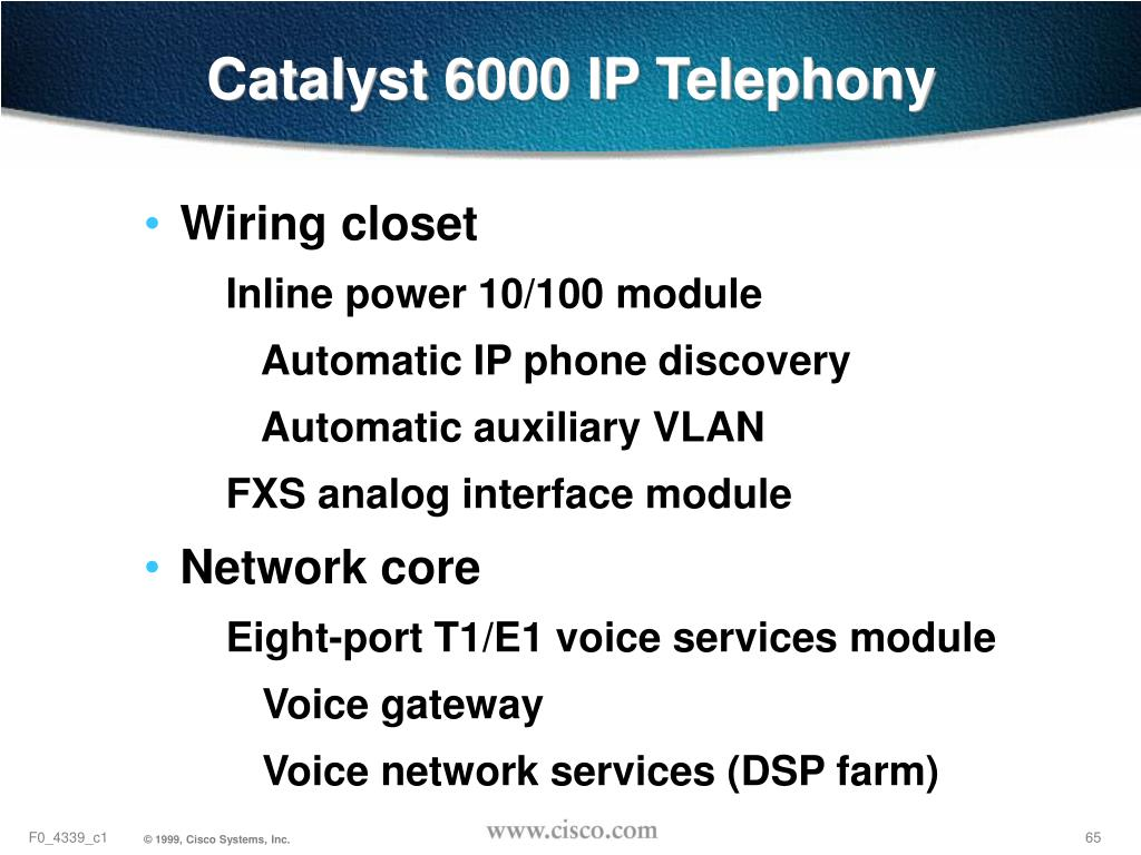 Catalyst 6000 IP Telephony