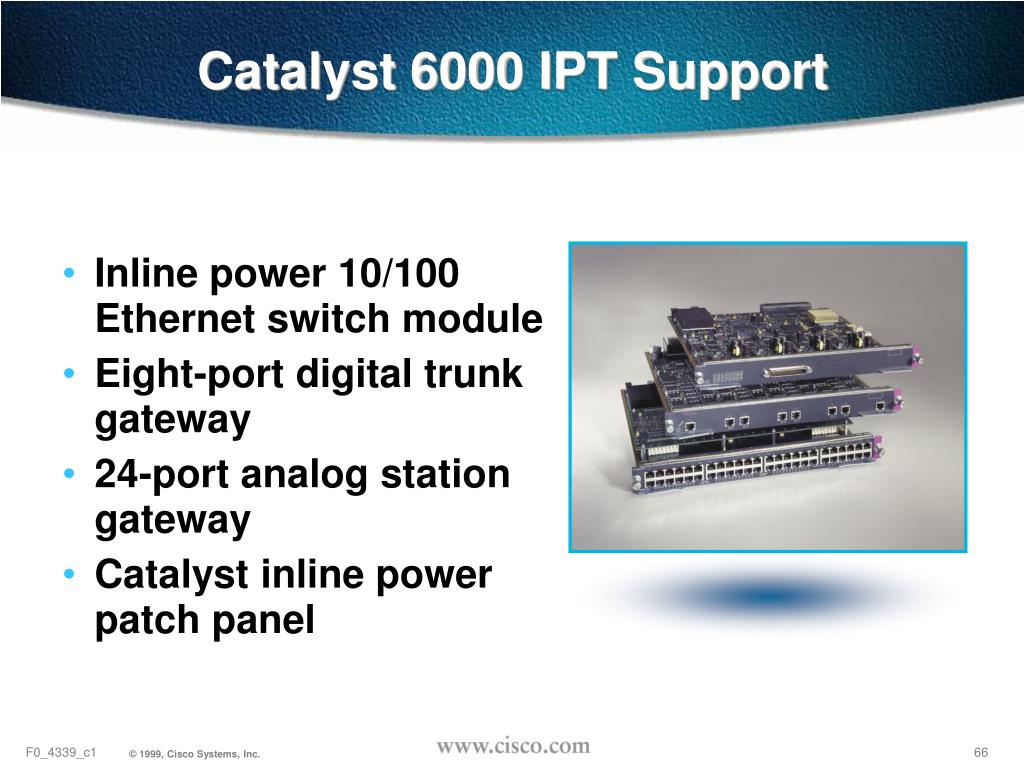 Catalyst 6000 IPT Support