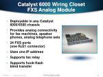 catalyst 6000 wiring closet fxs analog module
